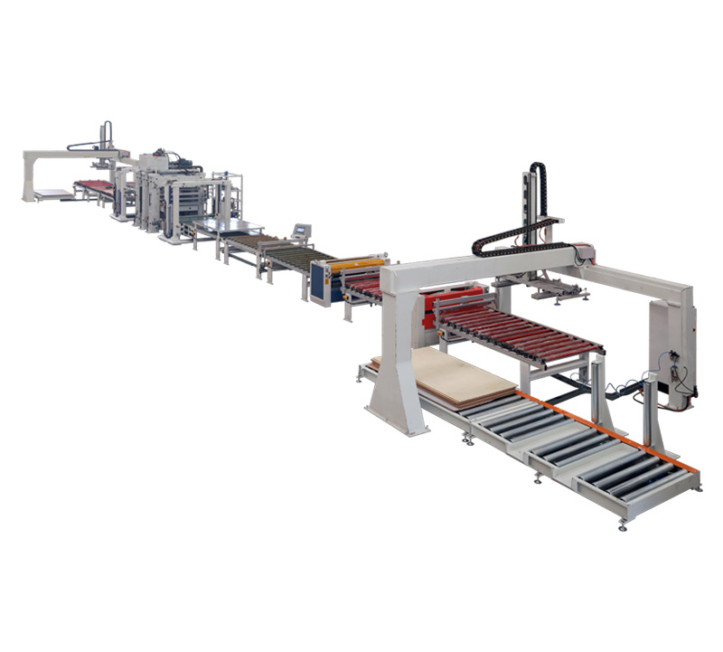 Furniture board veneer production line