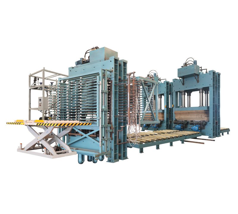 Floor composite production line