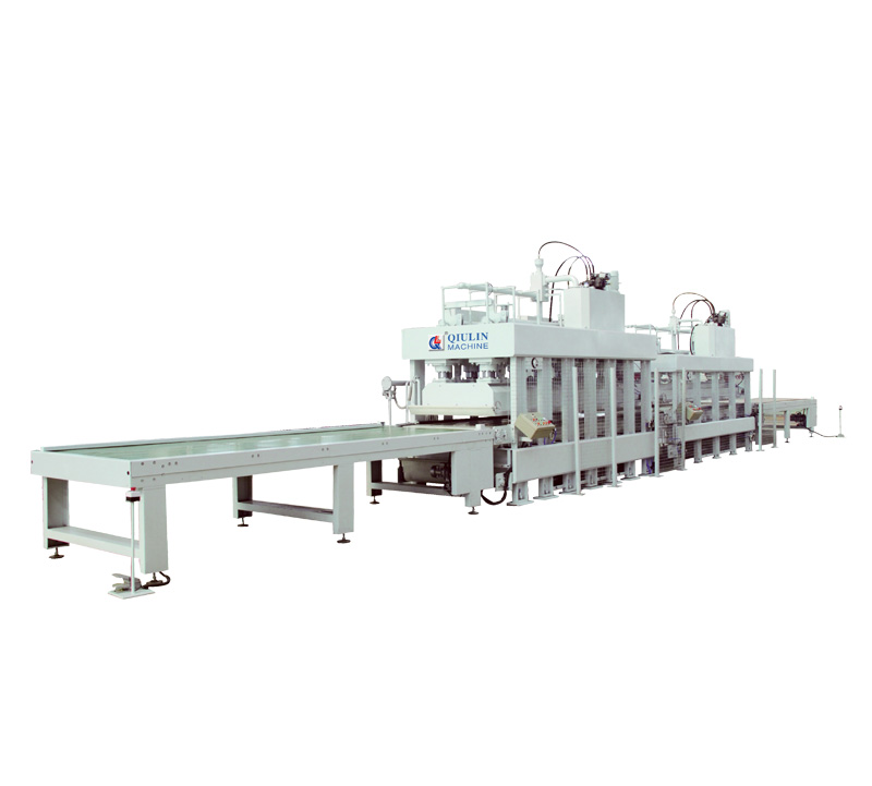 Aluminium foam laminating heating and cooling press unit