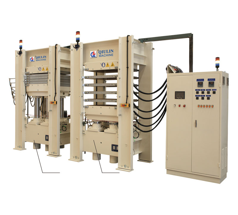 Integrated conductive heating and cooling press unit